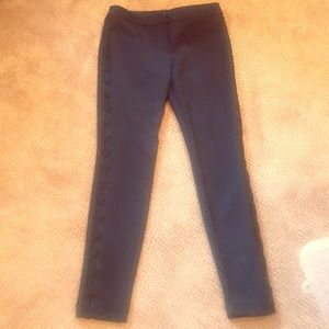 Express Black Side-Detailed Pants